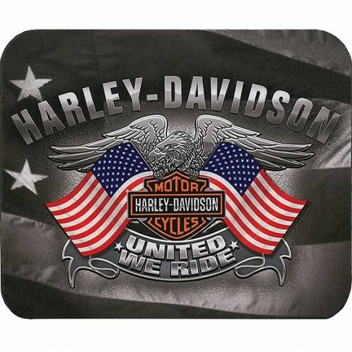 Tapis de souris United We Ride, neoprene, fin, Harley-Davidson MO12584