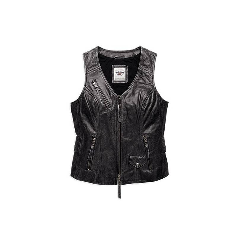 Bell Moto 3 >> Gilet cuir Dust Rider Harley-Davidson femme - Motorcycles ...