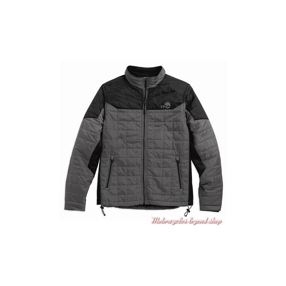 Veste matelassée Turret homme, manches amovibles, noir/gris, Harley-Davidson 97567-16VM