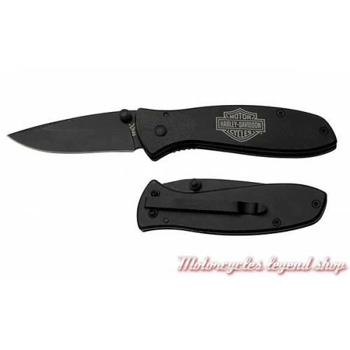 Couteau Tec X Tags-L, pliant, acier, noir mat, Harley-Davidson 52081