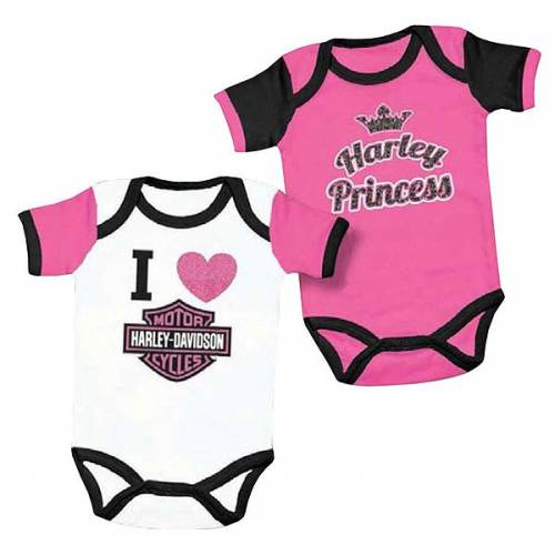Lot de 2 bodies Harley fille