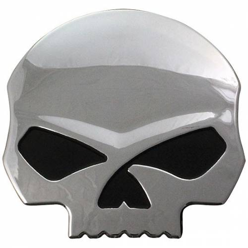Sticker Skull Willie G. relief, plastique, chrome, Harley-Davidson DC1199062