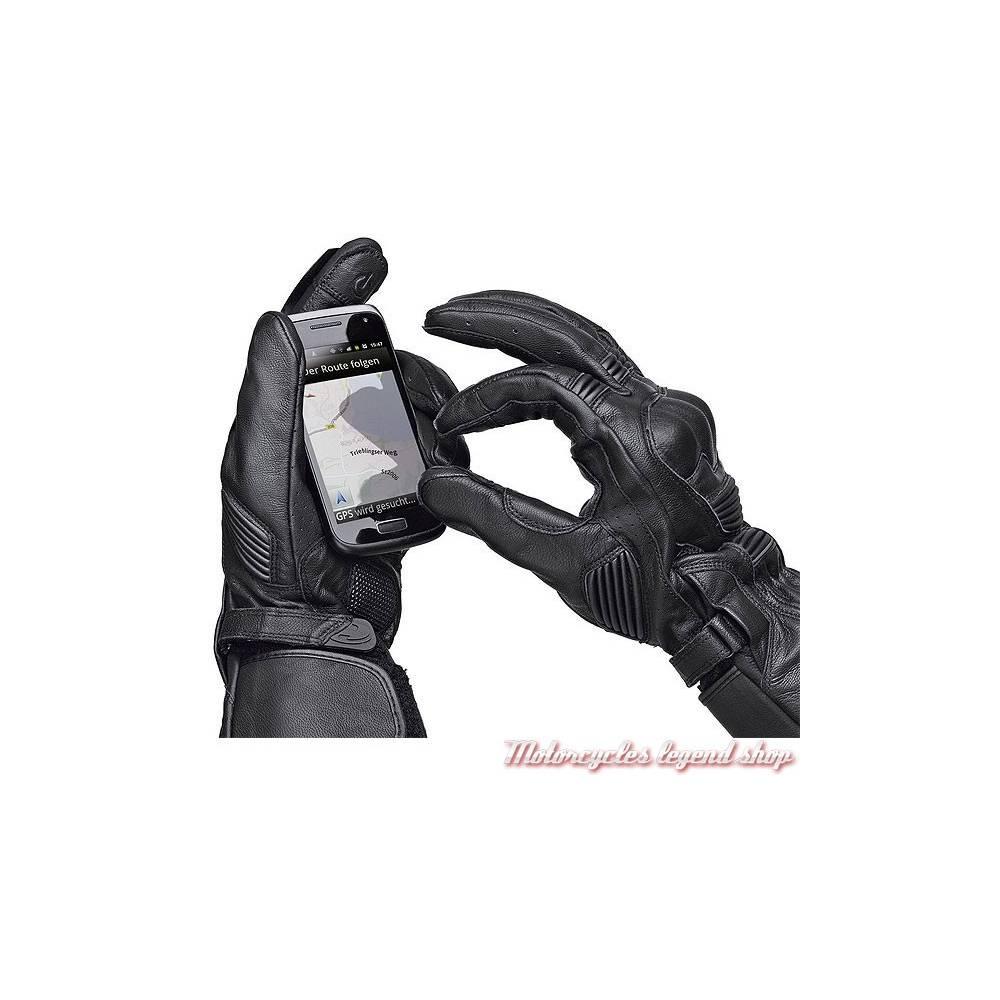 Gants cuir Touch mixte, coqués, noir, Held 2556