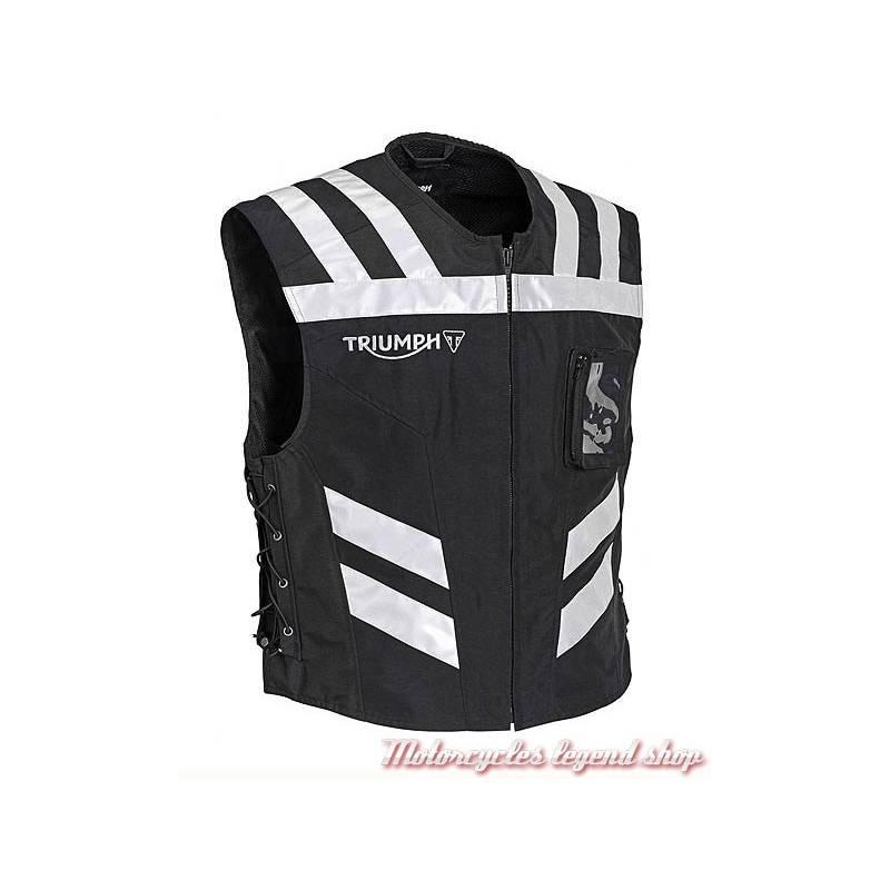 Gilet de sécurité réfléchissant mixte, noir, réglable, Triumph MFNS16523