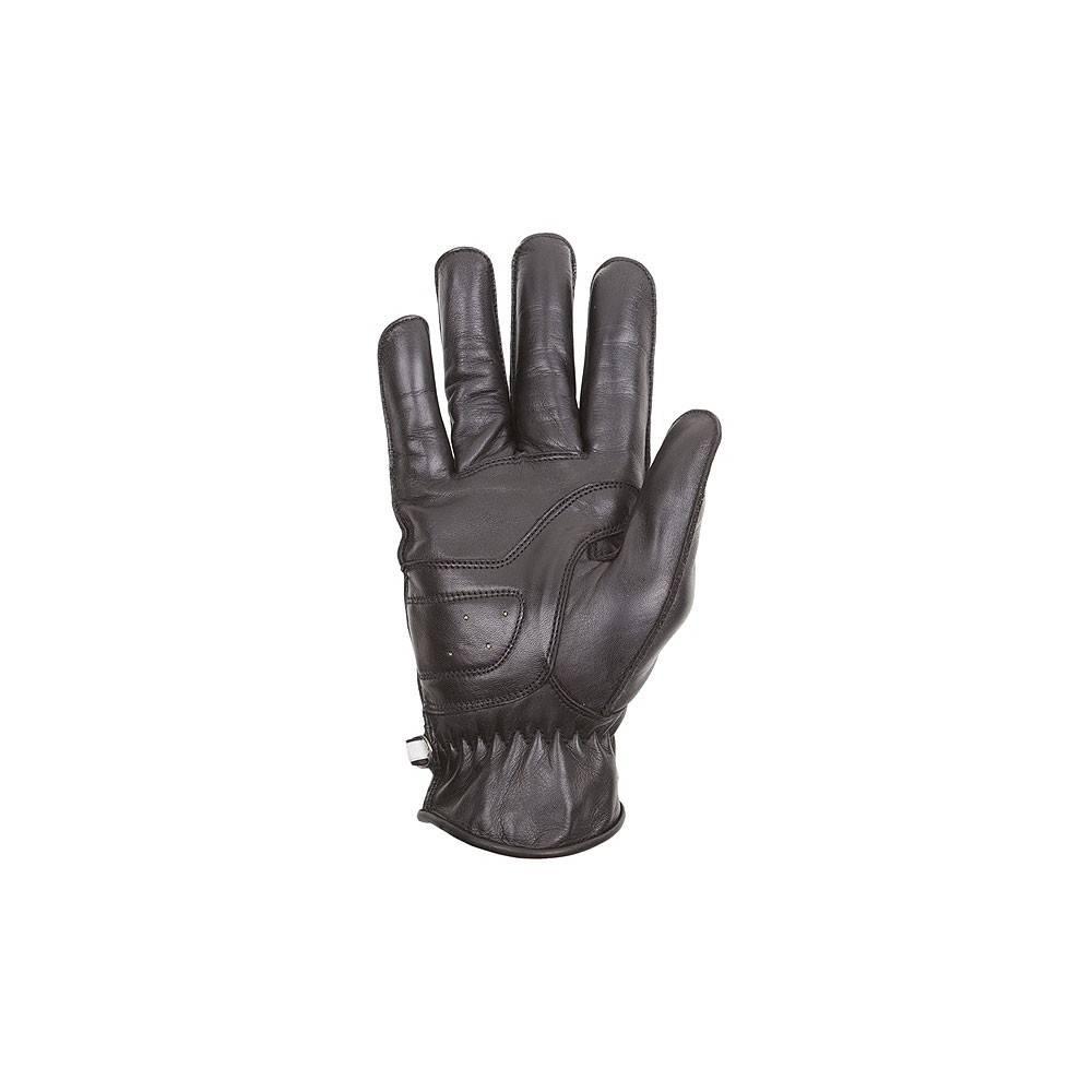 Gant cuir Zico été homme, noir, coque carbone, kevlar, Helston's