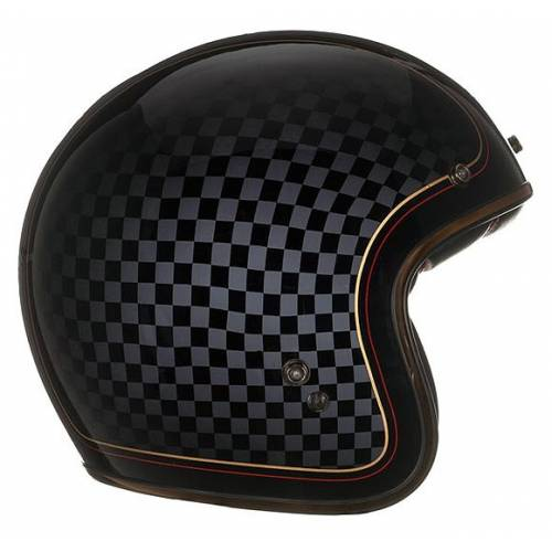 Casque Custom 500 Check It, mixte, damier, noir, gris,brillant, BELL