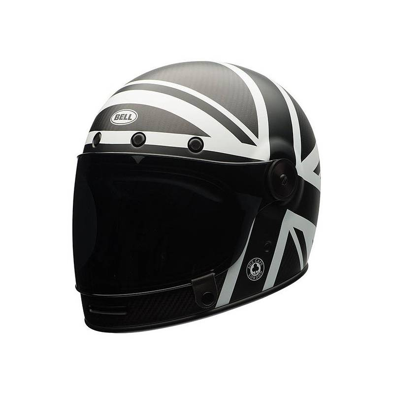 casque bullit carbon union jack bell motorcycles legend shop. Black Bedroom Furniture Sets. Home Design Ideas