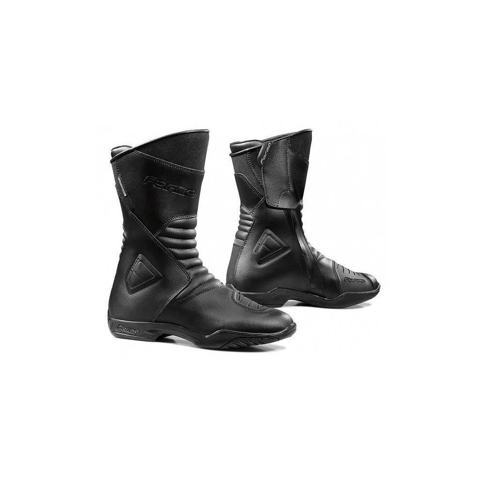 Bottes Touring Majestic homme technique, waterproof, zippées, cuir noir, Forma
