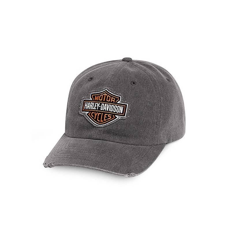 Casquette baseball Bar & Shield homme, coton, usé, grise, Harley-Davidson 99412-16VM