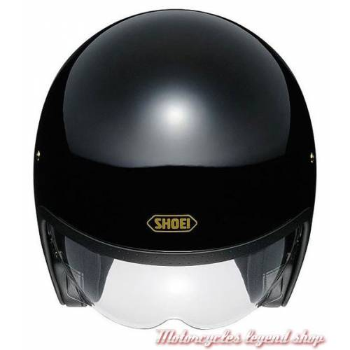 Casque J.O noir brillant mixte, vintage, Shoei