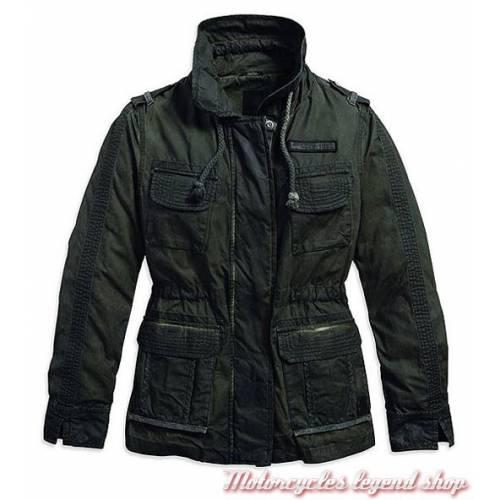 Veste Cargo Black Label, femme, coton parachute, kaki, délavé, Harley-Davidson 97400-16VW