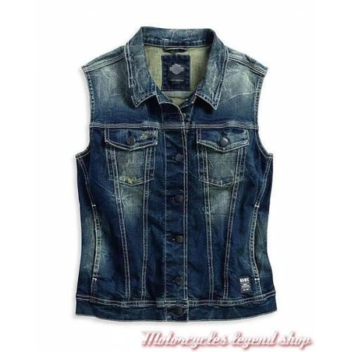 Veste jean sans manche Black Label Harley-Davidson