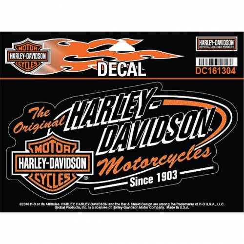 Sticker Retro H-D, vintage, Harley-Davidson DC161304