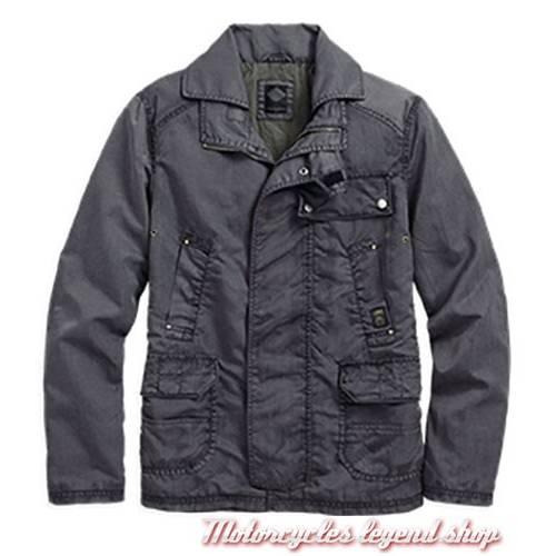 Veste Cargo Black Label, homme, nylon, bleu gris, Harley-Davidson 97593-16VM