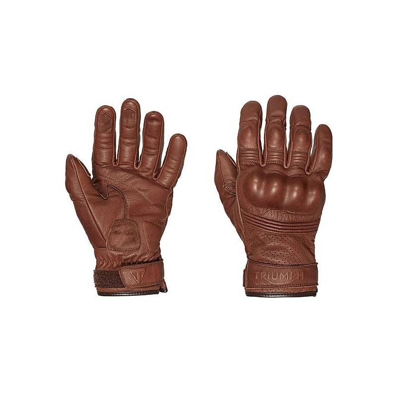 Gants cuir Restore homme, marron, coqués, Triumph MGVS16503