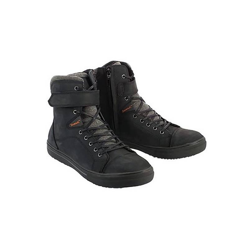Basket Atomic mixte, étanche, cuir noir, lacets et zip, Soubirac