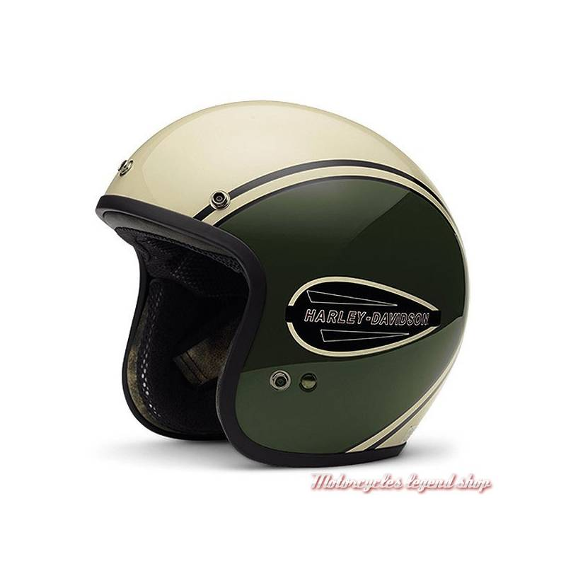 Casque Jet Classic Retro Harley Davidson Motorcycles Legend Shop