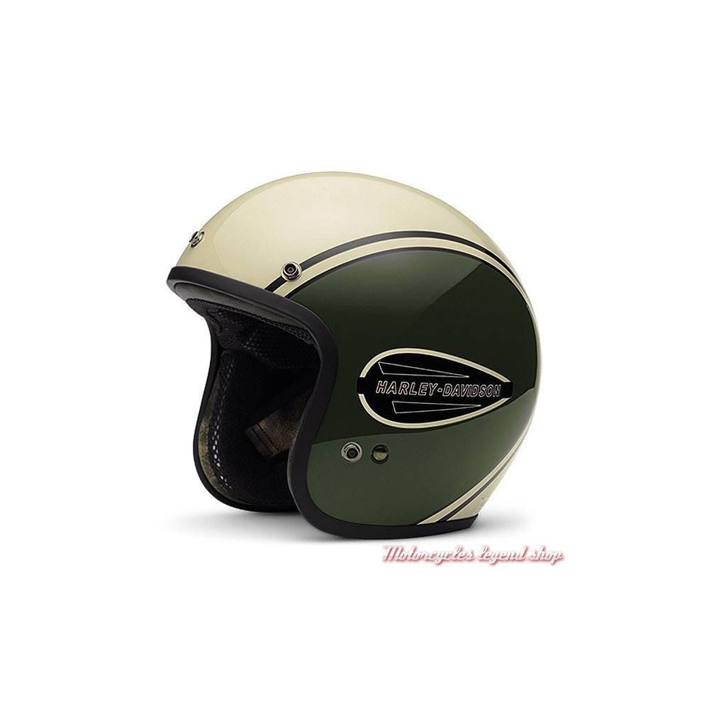 Casque jet Classic Retro mixte, kaki, crème, fibre de verre, Arai, Harley-Davidson 98284-16EM