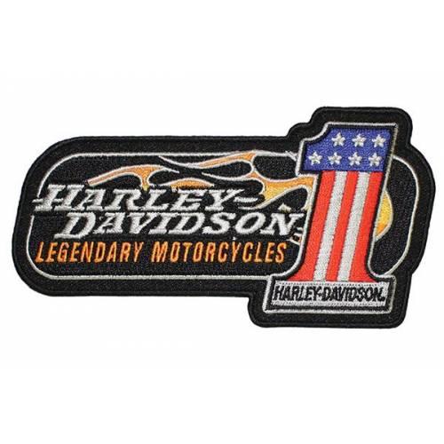 Patch RWB, Number One drapeau US, brodé, Harley-Davidson EM227642