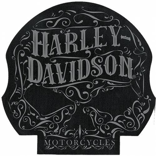 Tapis de souris Ornate Skull, noir, gris, Harley-Davidson MO14680