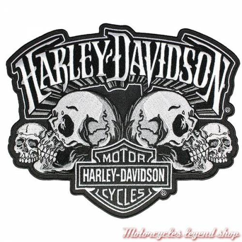 Patch Skull Text Harley-Davidson