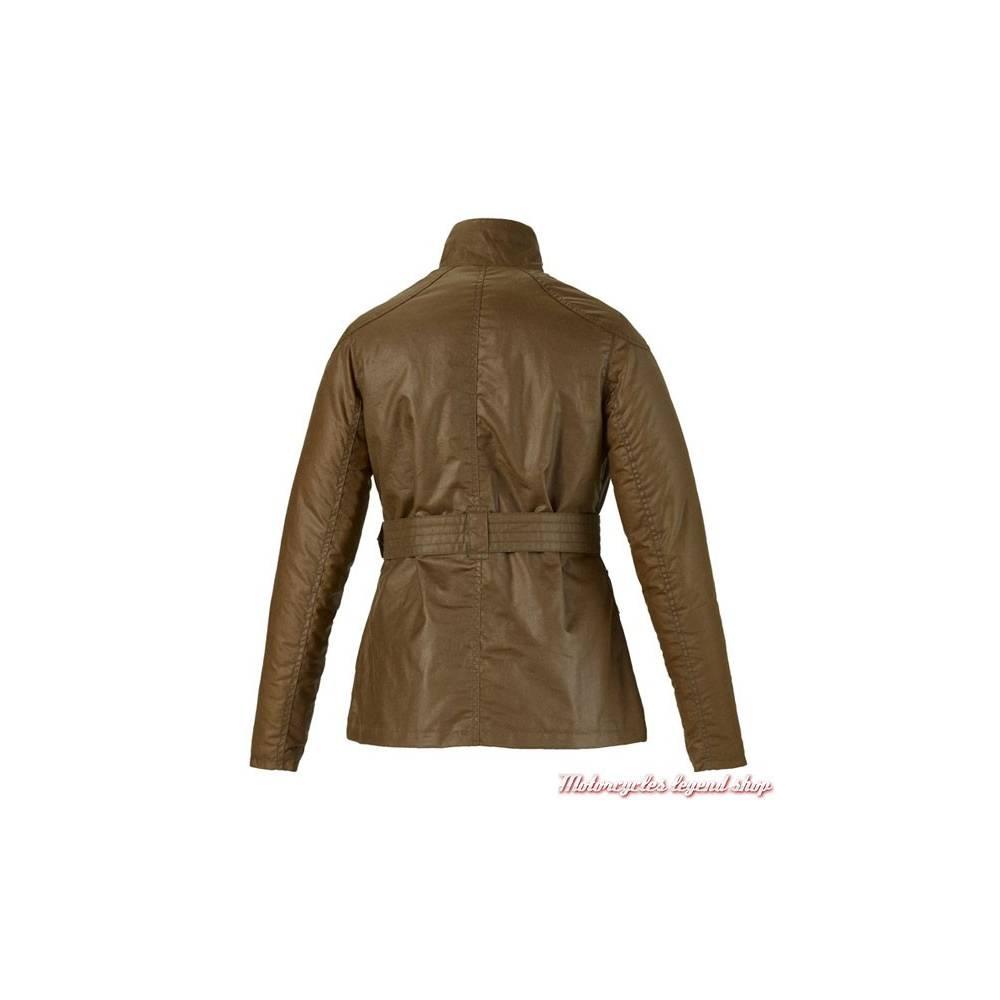 Blouson textile Erica Triumph, femme, coton waxé gras, marron tabac, sans protection, collection Bonneville, Triumph MLTA16207