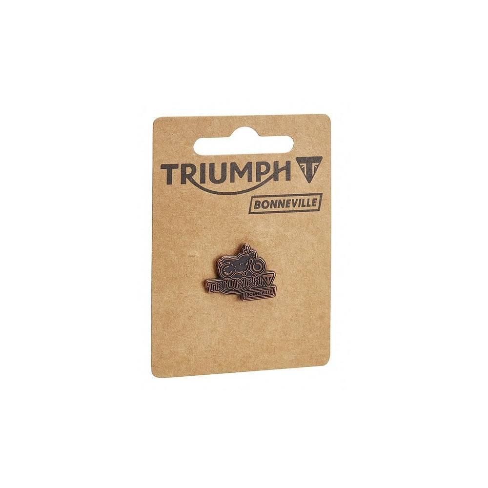 Blouson textile Eric Triumph, homme, collection Bonneville, coton waxé gras, marron tabac, sans protection, Triumph MTHA16206