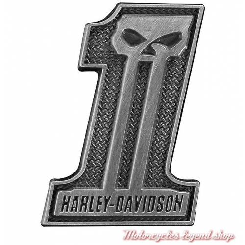 Pin's One Skull Harley-Davidson