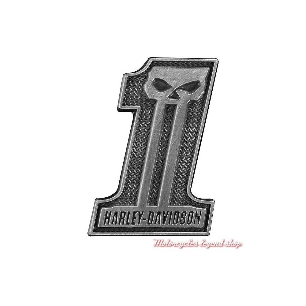 Pin's One Skull Harley-Davidson, metal antique, P718062