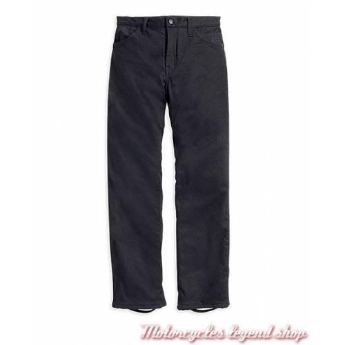 Pantalon textile FXRG femme Harley-Davidson, jean coton, noir, coupe droite, 5 poches, EC-99186-14VW