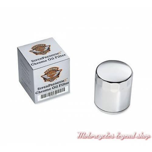 Filtre à huile Superpremium5 Harley-Davidson, 5 microns, chromé, 63798-99A