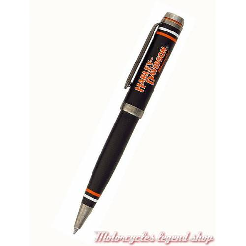Stylo Full Throttle Black Harley-Davidson, à bille, noir, orange, Harley-Davidson HDBP-1829