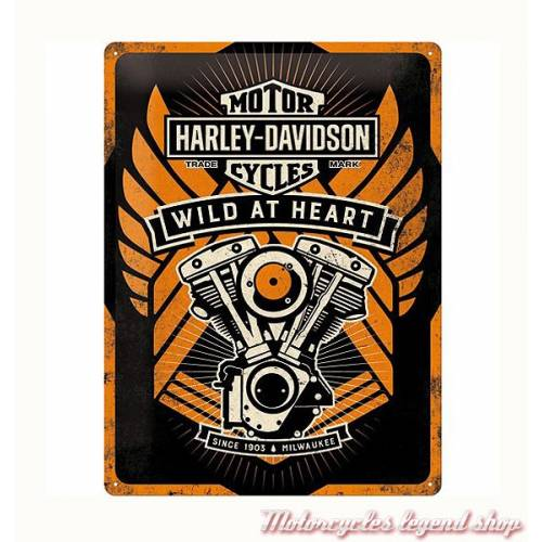 Plaque métal Wild at Heart Harley-Davidson