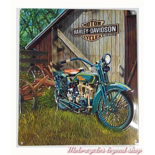 Plaque métal 1923 Head Twin Harley-Davidson, rétro, 2010531