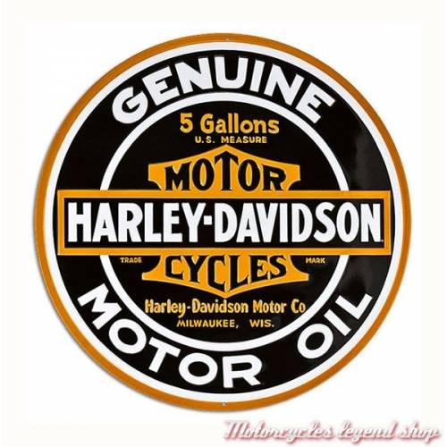 Plaque métal Oil Round Harley-Davidson, rétro, 2010621