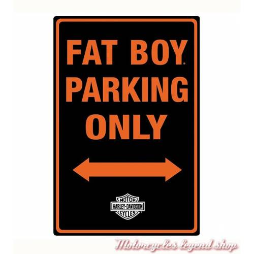 Plaque métal Fat Boy Parking Harley-Davidson