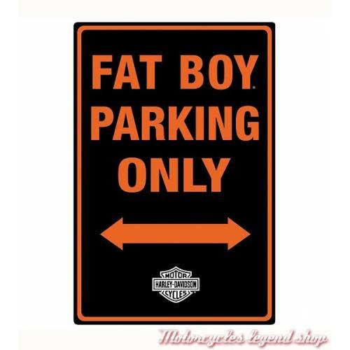 Plaque métal Fat Boy Parking Harley-Davidson, 2010981