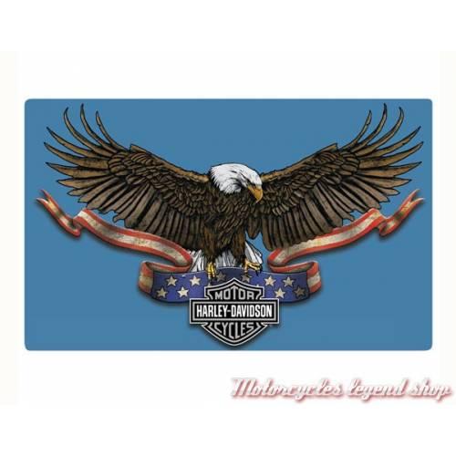 Plaque métal Eagle Banner Harley-Davidson