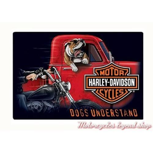 Plaque métal Dogs Understand Harley-Davidson, rétro, 2011241