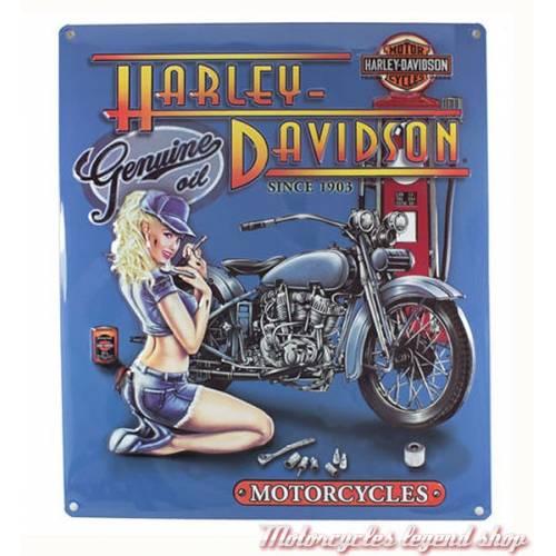 Plaque métal Mechanic Babe Harley-Davidson