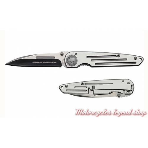 Couteau Tec X TK-W Harley-Davidson, pliant, acier, gris chrome, 52110