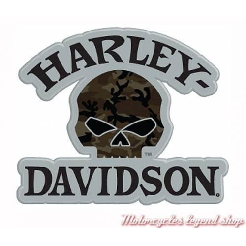Pin's Camo Skull Harley-Davidson