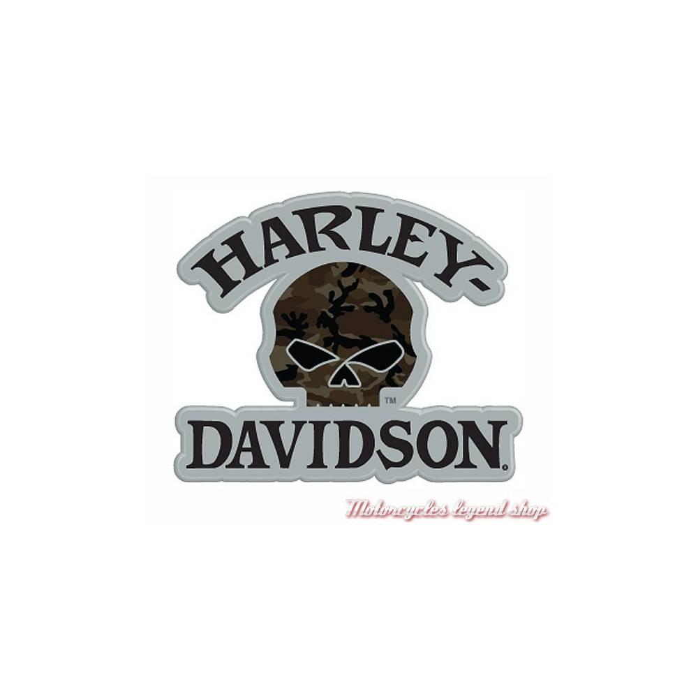 Pin's Camouflage Skull Harley-Davidson, métal,181129