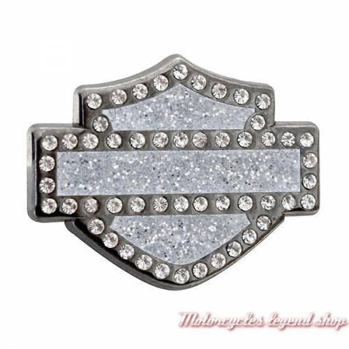 Pin's Bar & Shield Bling Harley-Davidson, métal, bijou strass, V51988