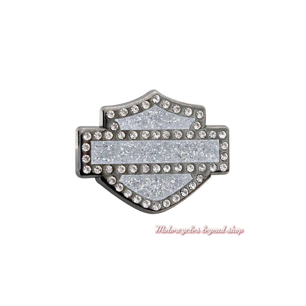 Pin's Bar & Shield Bling Harley-Davidson, métal, bijou strass, V51988