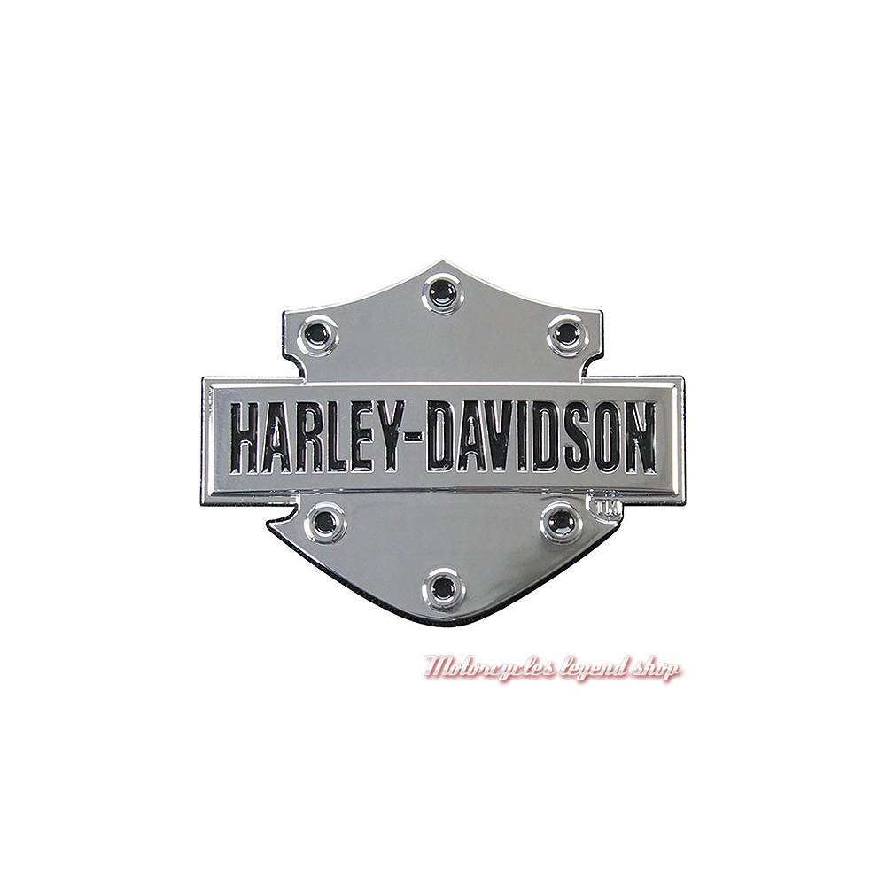 Sticker Bar & Shield relief Harley-Davidson, plastique, chrome, DC200061