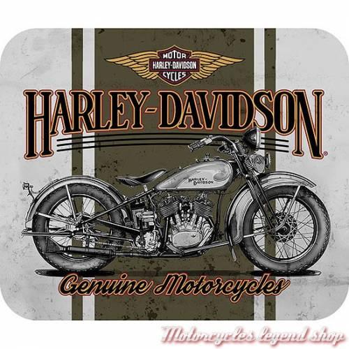 Tapis de souris Flathead Harley-Davidson, neoprene, fin, MO19286
