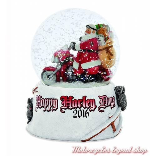 Boule à neige Large 2016, père noël biker, diamètre 11.5 cm Harley-Davidson 96813-17V