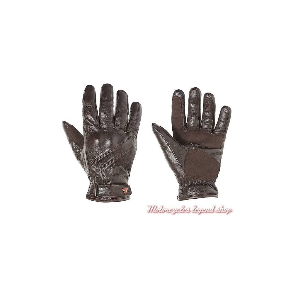 Gants cuir Lothian Triumph homme, marron, doublés, homologués, MGVA16105