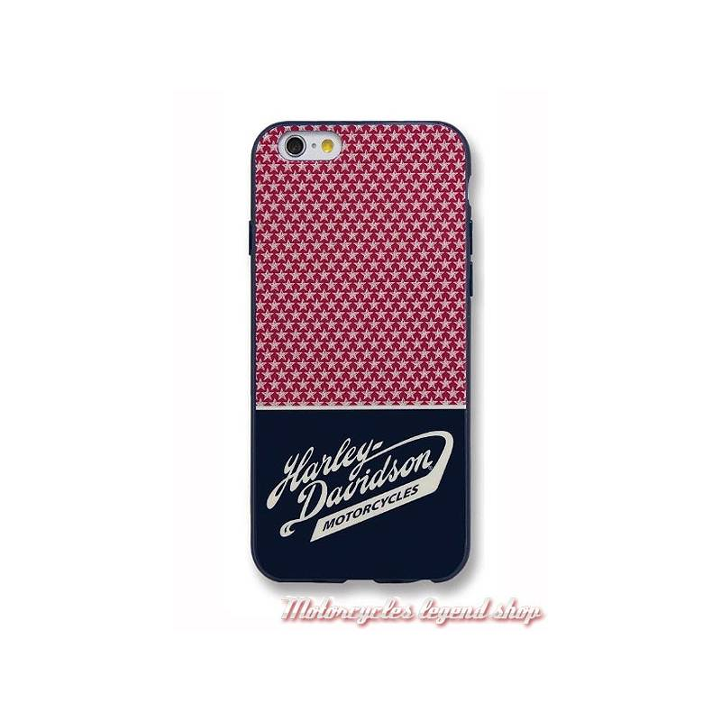 Coque iPhone 7 Americana Stars, rouge, bleu navy, blanc, Harley-Davidson 7824